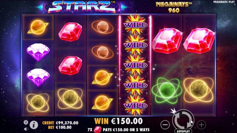 Starz Megaways :: Multiple winning combinations