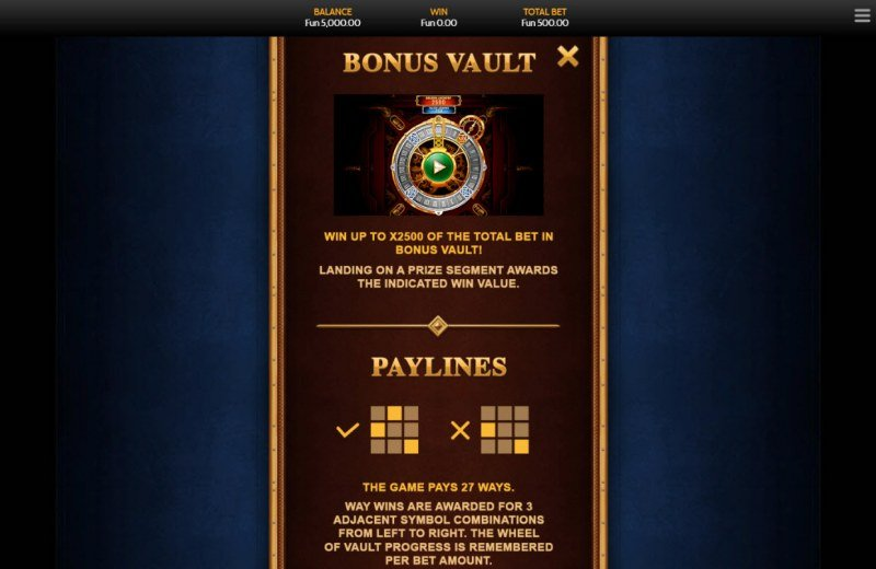 Steam Vault :: Bonus Game Rules