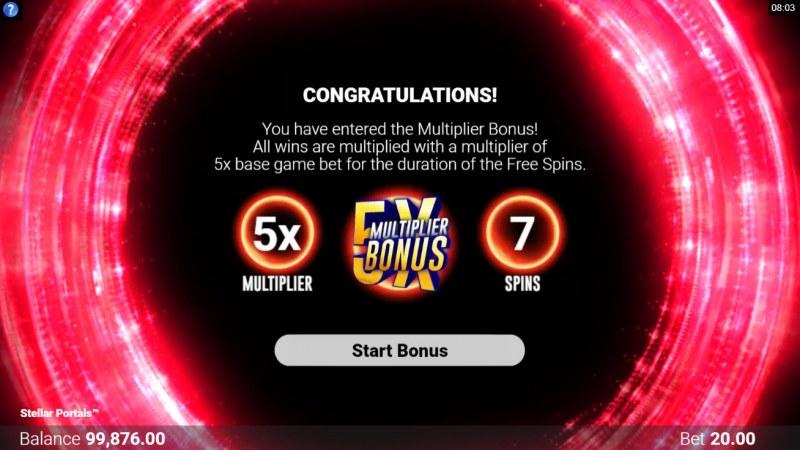Stellar Portals :: 7 free spins awarded