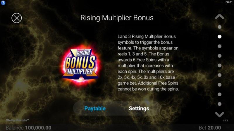 Stellar Portals :: Rising Multiplier Bonus