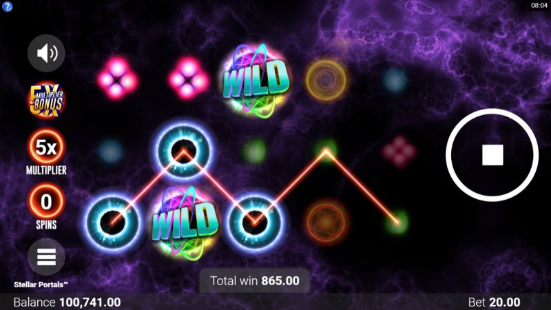 Stellar Portals :: Multiple winning paylines