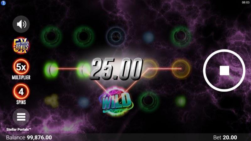 Stellar Portals :: Free Spins Game Board