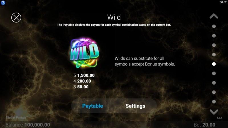 Stellar Portals :: Wild Symbol Rules