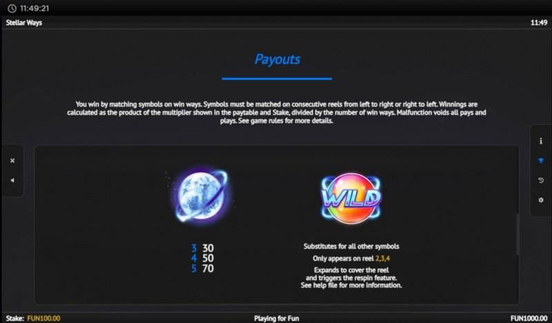 Stellar Ways :: Paytable - High Value Symbols