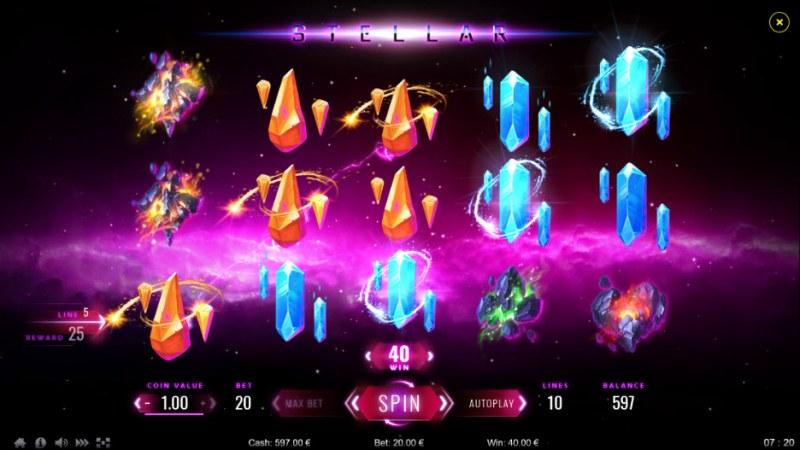 Stellar :: A three of a kind win