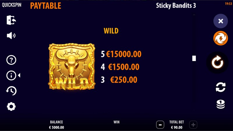 Sticky Bandits 3 Most Wanted :: Wild Symbol Rules