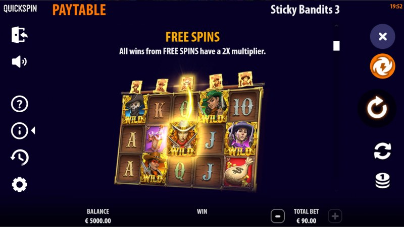 Sticky Bandits 3 Most Wanted :: Free Spin Feature Rules