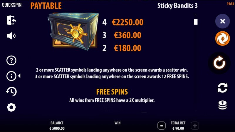Sticky Bandits 3 Most Wanted :: Scatter Symbol Rules