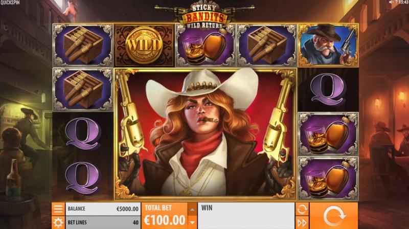 Sticky Bandits Wild Return :: Main Game Board