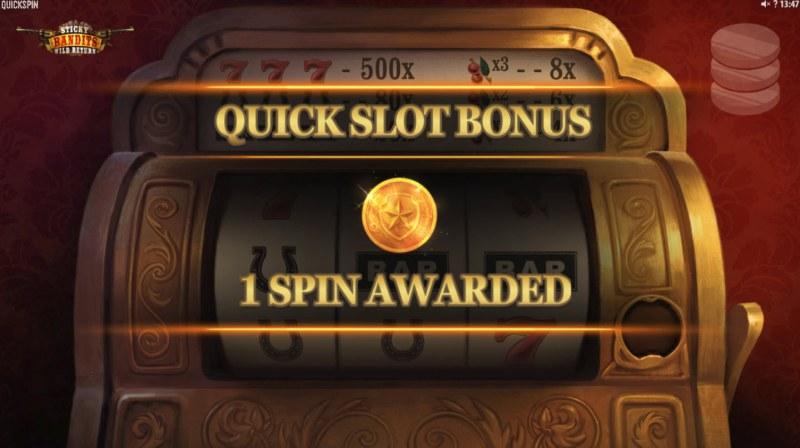 Sticky Bandits Wild Return :: 1 Spin Awarded