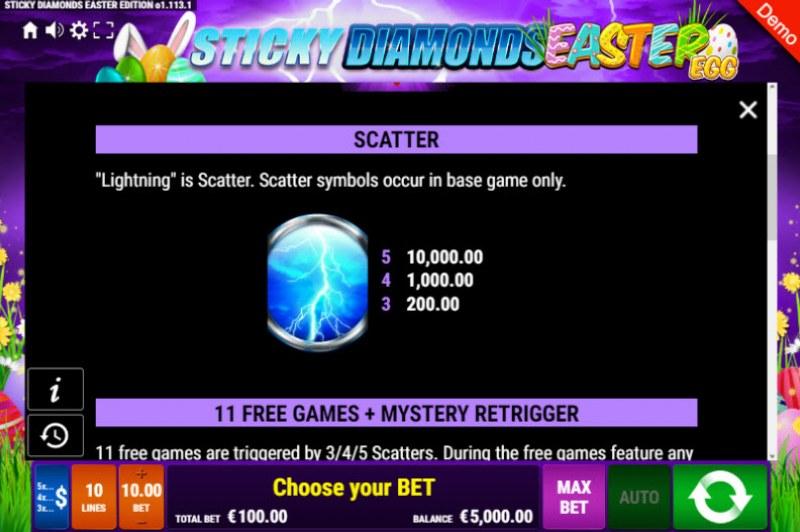 Sticky Diamonds Easter Egg :: Scatter Symbol Rules