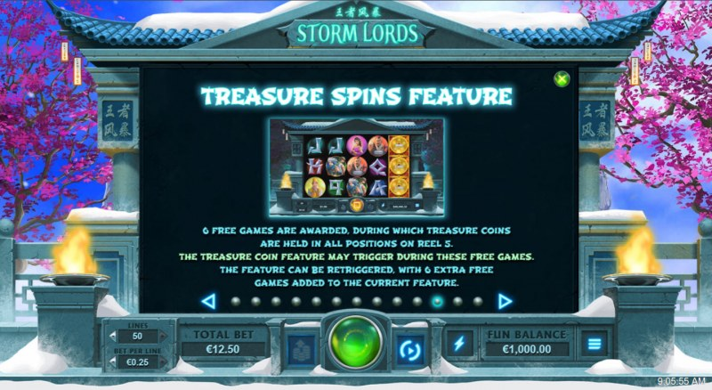 Storm Lords :: Treasure Spins Feature