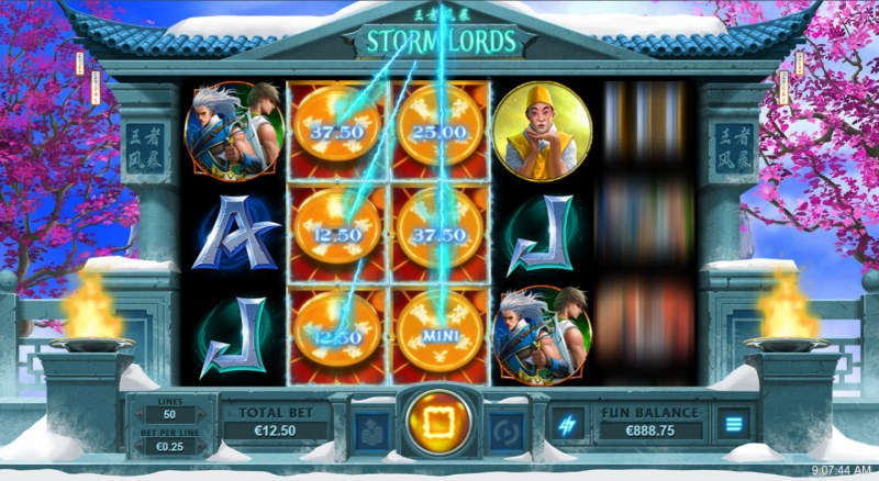 Storm Lords :: Treasure Spins feature triggered