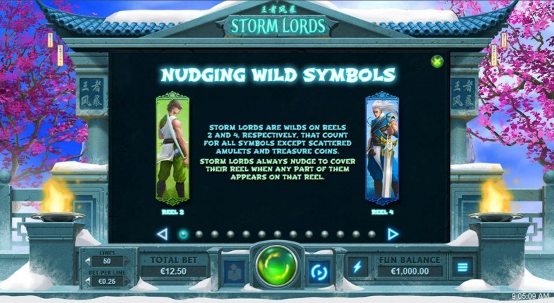 Storm Lords :: Nudging Wild Symbols