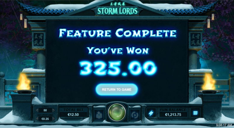 Storm Lords :: Total Feature Payout