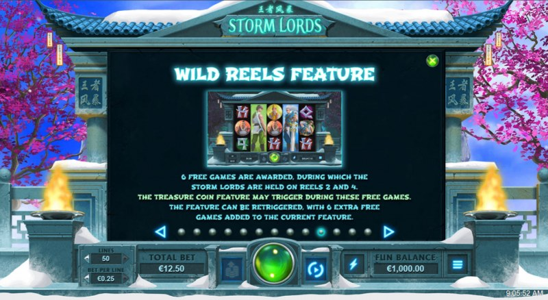 Storm Lords :: Wild Reels Feature