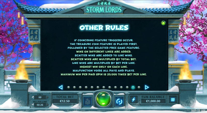 Storm Lords :: General Game Rules