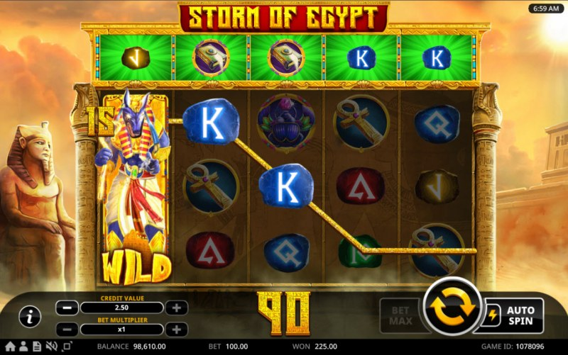 Storm of Egypt :: Stacked Wild