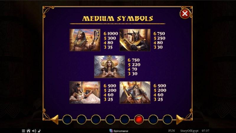 Story of Egypt :: Paytable - Medium Value Symbols
