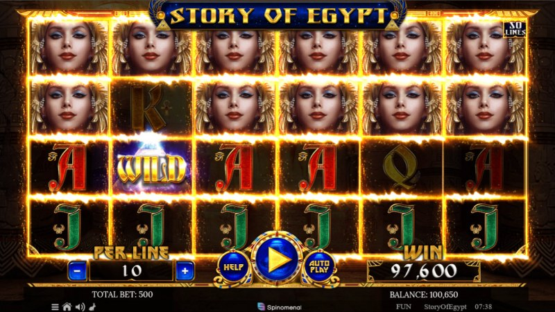 Story of Egypt :: Multiple winning combinations lead to a big win