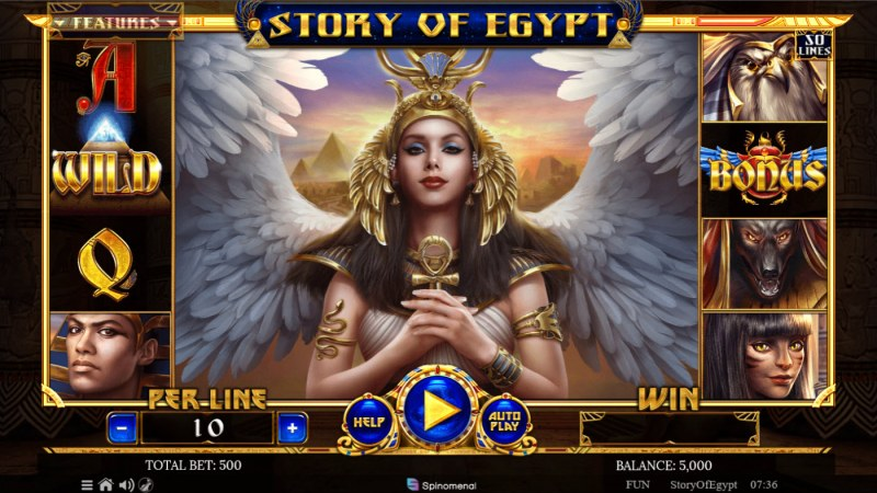 Story of Egypt :: Base Game Screen