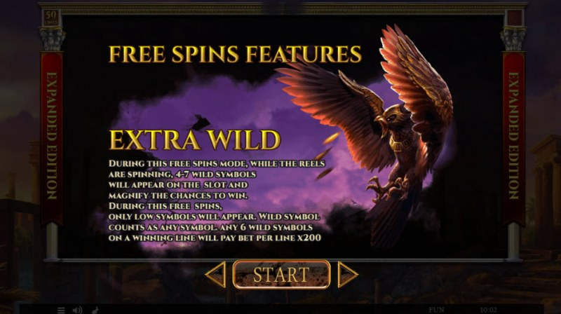 Story of Hercules Expanded Edition :: Extra Wild Free Spins