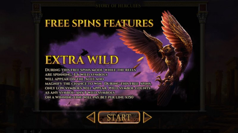 Story of Hercules :: Extra Wild Free Spins