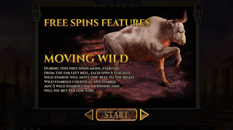 Story of Hercules :: Moving Wild Free Spins