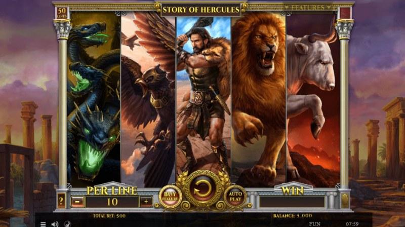 Story of Hercules :: Main Game Board