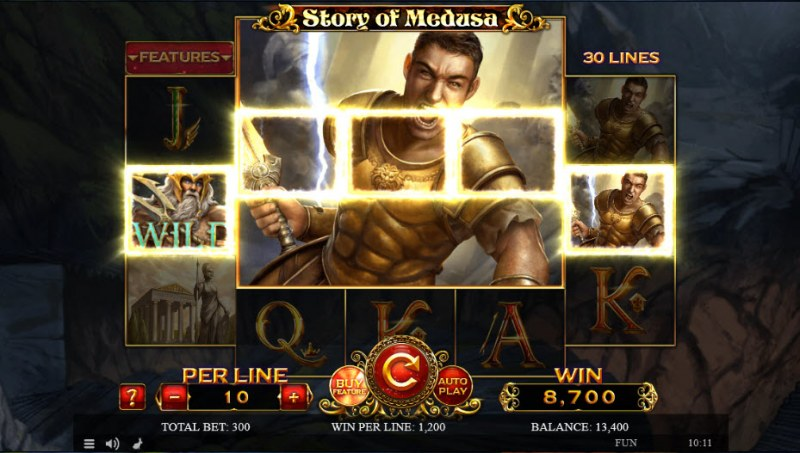 Story of Medusa :: A five of a kind win