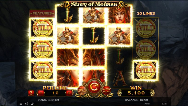 Story of Medusa :: Multiple winning paylines