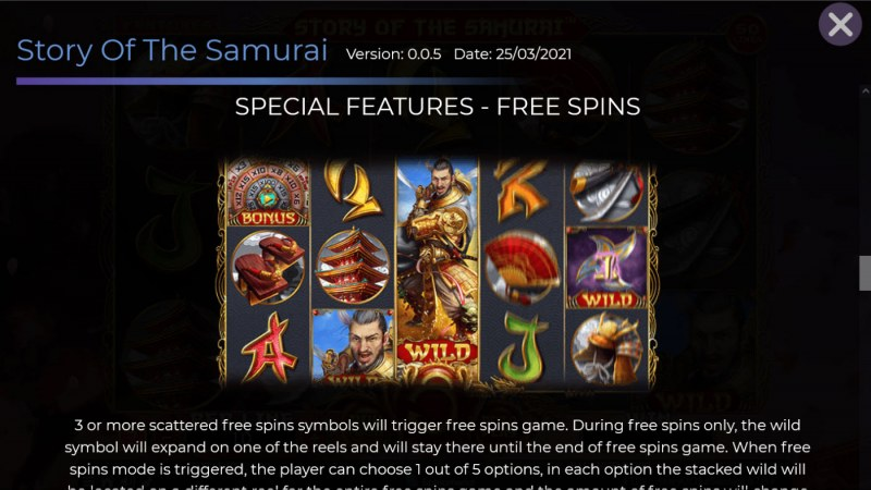 Story of the Samurai :: Free Spin Feature Rules