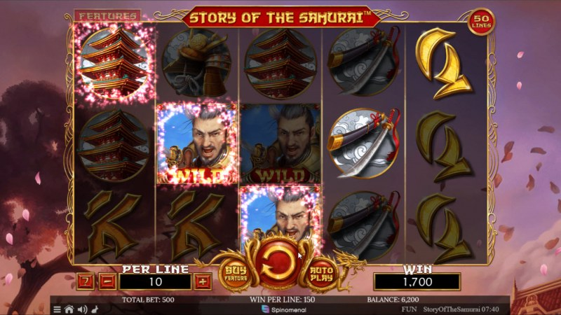 Story of the Samurai :: A four of a kind win