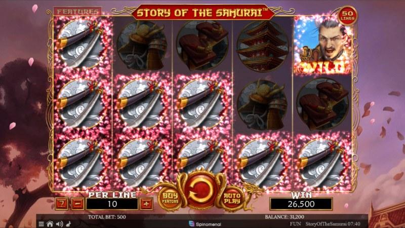 Story of the Samurai :: Multiple winning paylines