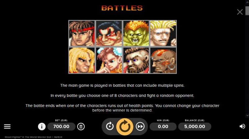 Street Fighter II :: Feature Rules