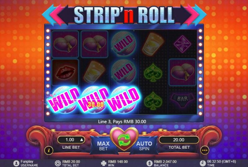 Strip 'n Roll :: Multiple winning paylines