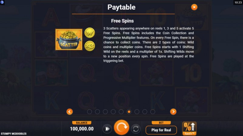 Stumpy McDoodles :: Free Spins Rules