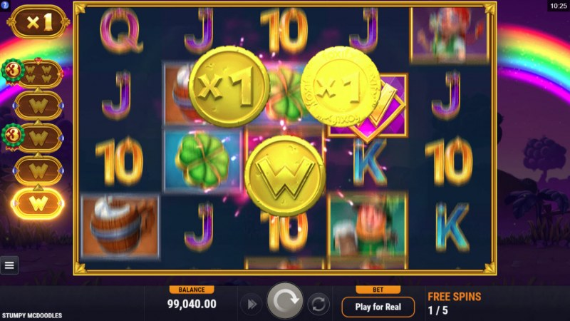 Stumpy McDoodles :: Collect gold coins during free spins for enchanced game play