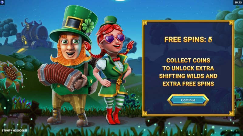 Stumpy McDoodles :: 5 free spins awarded