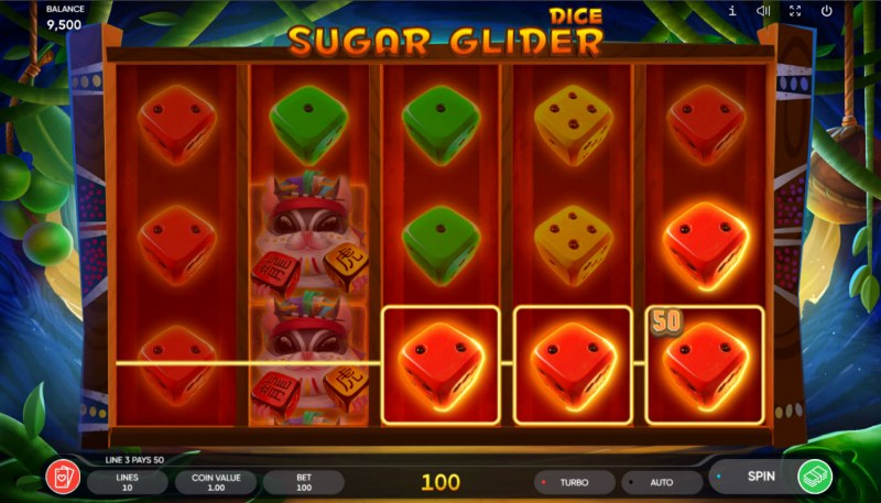 Sugar Glider Dice :: Game Pays In Both Directions