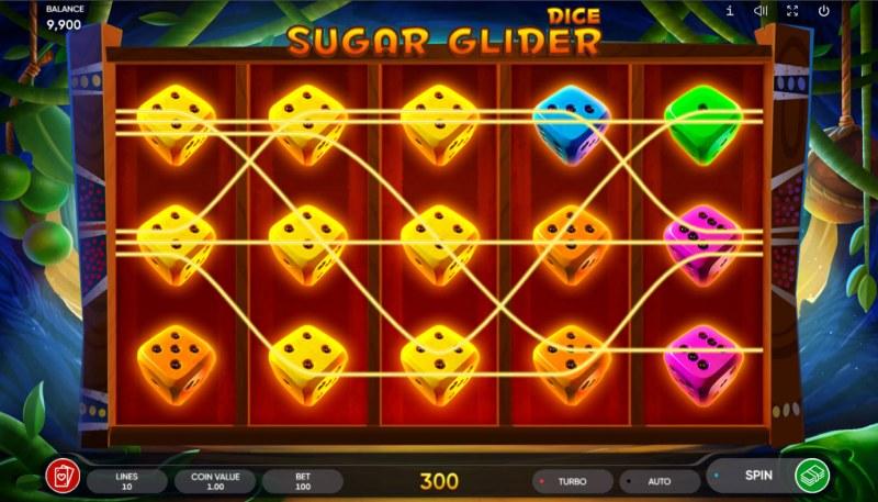 Sugar Glider Dice :: Multiple winning paylines