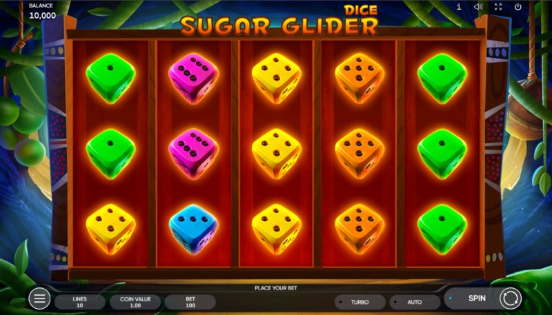 Sugar Glider Dice :: Base Game Screen