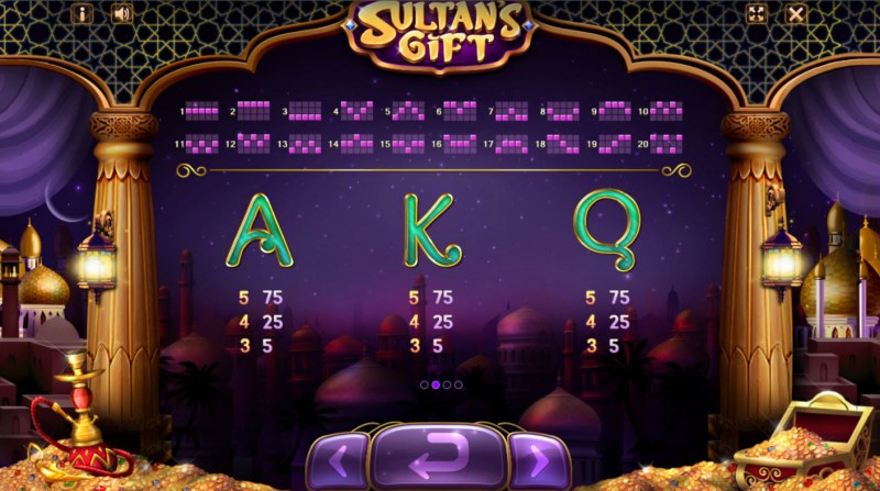 Sultan's Gift :: Paytable - Low Value Symbols