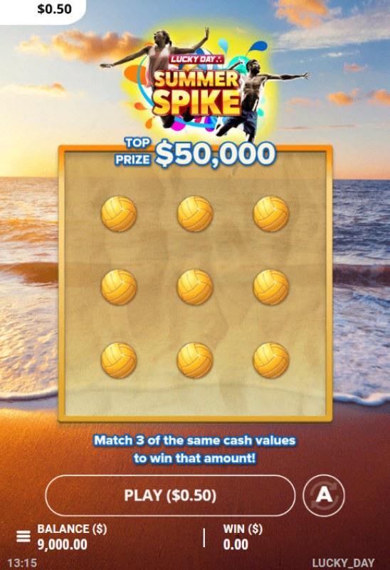 Summer Spike :: Main Game Board