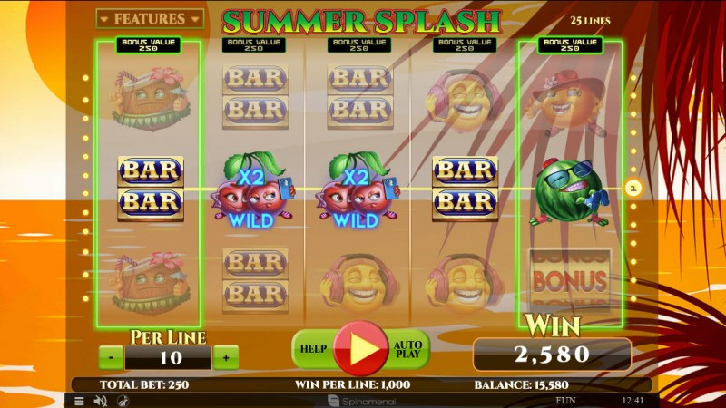 Summer Splash :: Multiple winning paylines