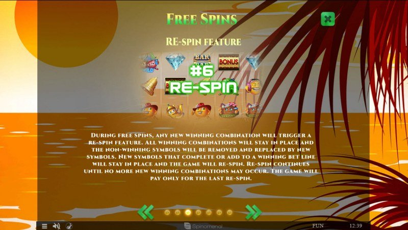 Summer Splash :: Free Spins Rules