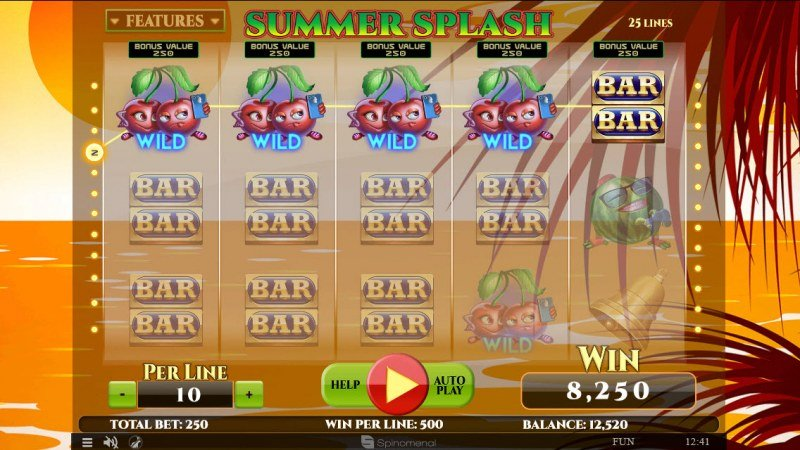 Summer Splash :: Multiple winning combinations leads to a big win