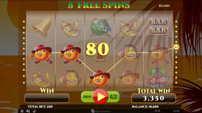 Summer Splash :: Free Spins Game Board