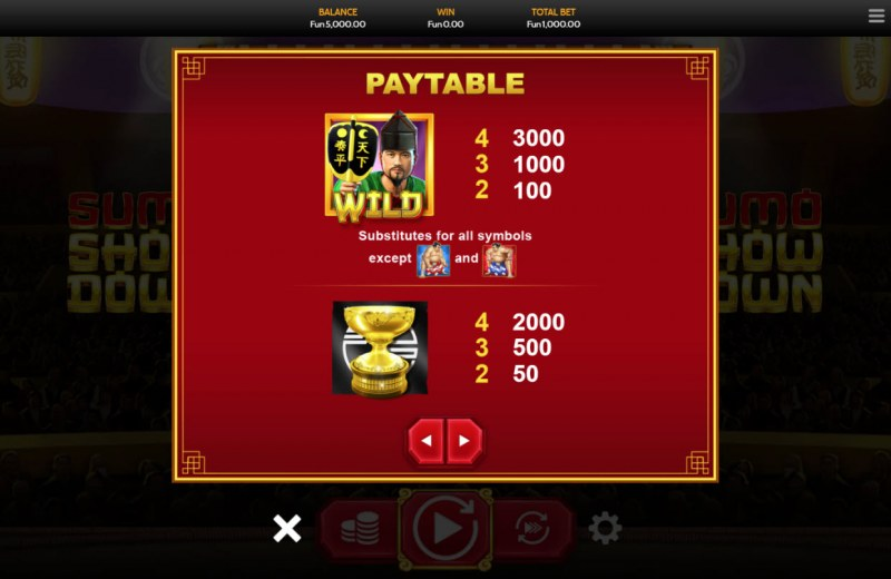 Sumo Showdown :: Paytable - High Value Symbols