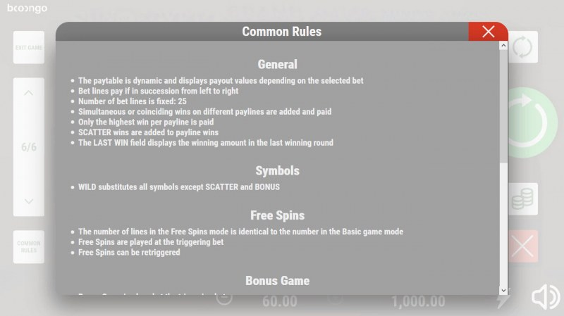 Sun of Egypt 2 :: General Game Rules